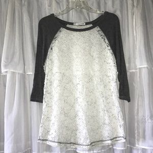 Maurice's 3/4 Sleeve Lace Top